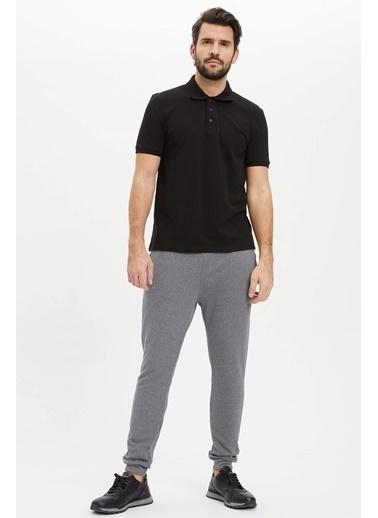 DeFacto Polo Yaka Regular Fit T-Shirt Siyah